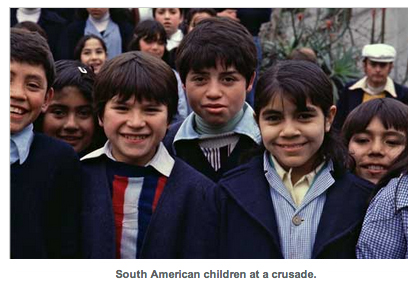 South American children at a crusade.