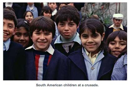 South American children at a crusade.