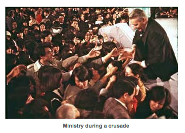 Ministry during a crusade